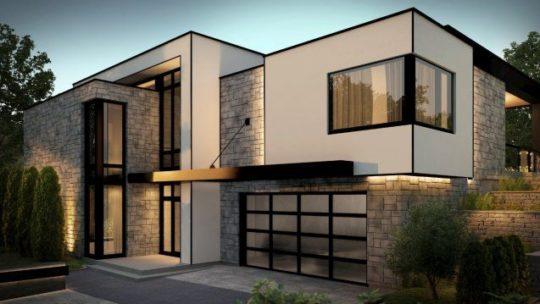 Le projet de construire une maison contemporaine
