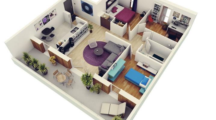 Le plan de construction d'une maison